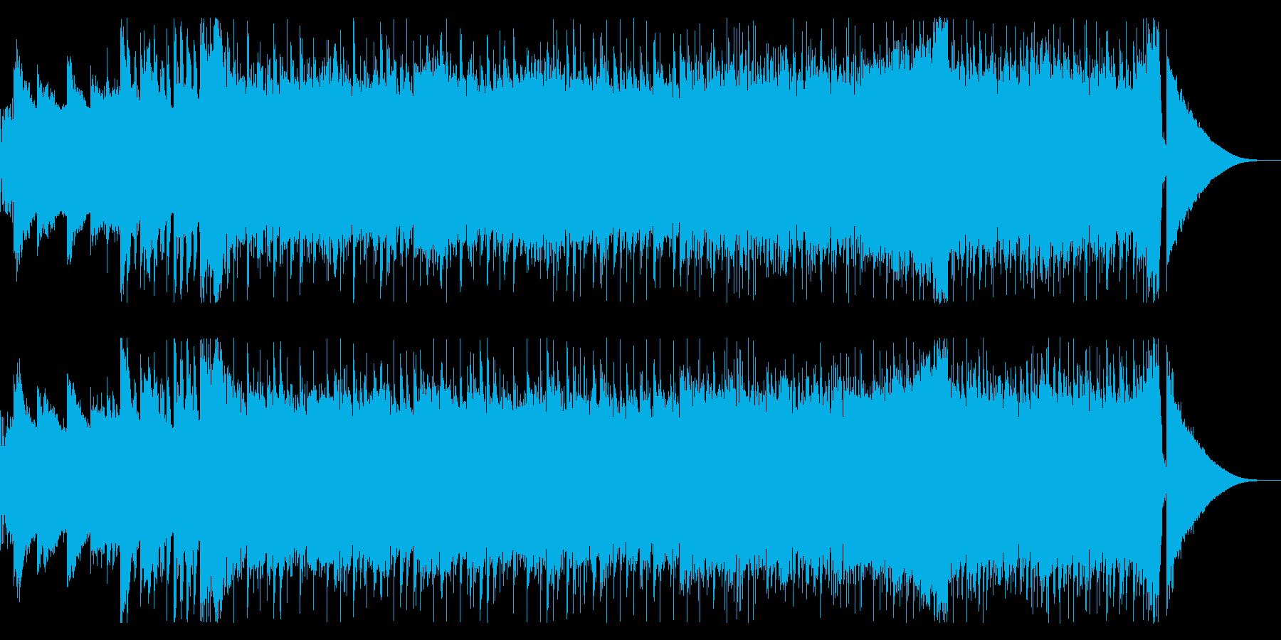 明朗でダイナミックなBGMの再生済みの波形