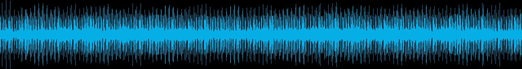 クールな印象のループBGMの再生済みの波形