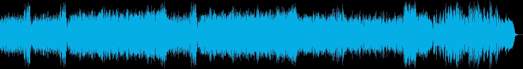 コミカルで謎掛けのような曲の再生済みの波形