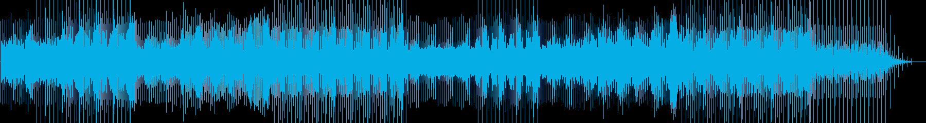 プログレッシブなハウスのEDM曲の再生済みの波形