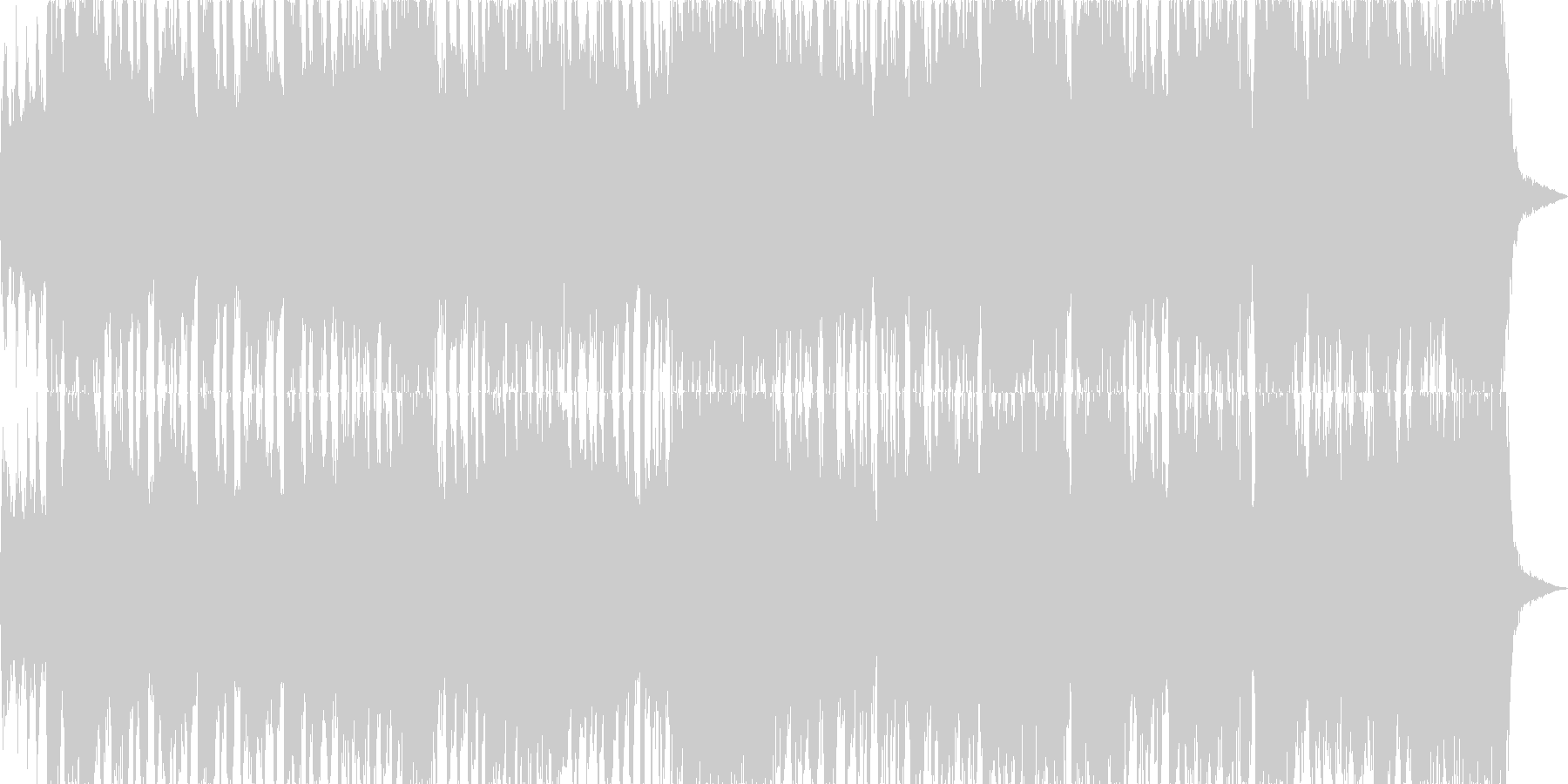 エレキギターが印象的なビッグバンドジャズの未再生の波形