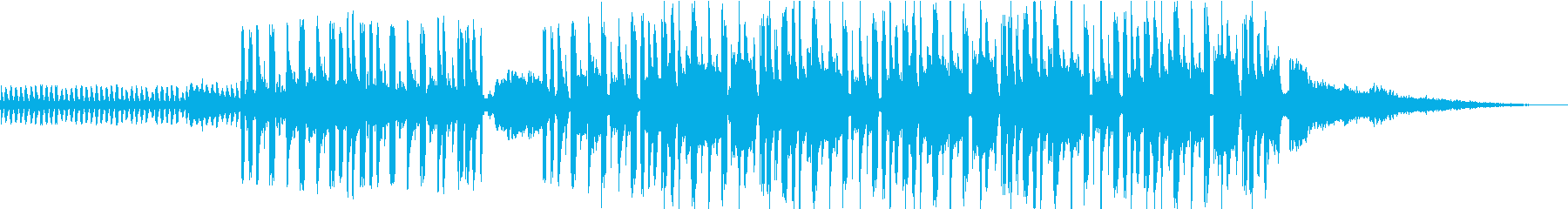 SNSに使いやすい1分間サウンドトラックの再生済みの波形