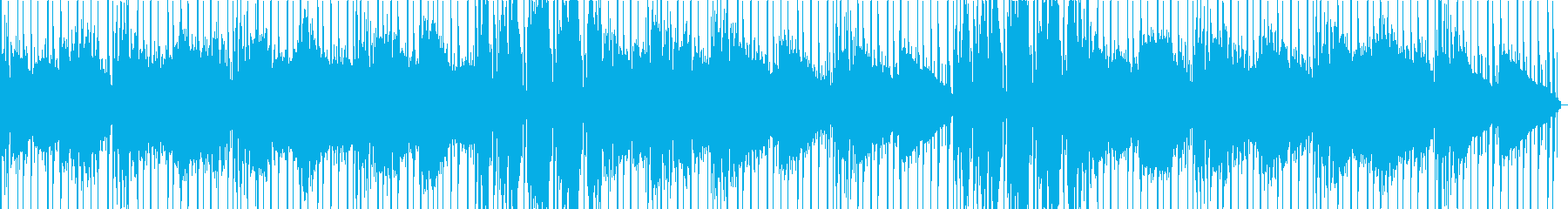 サスペンス感のある楽曲の再生済みの波形