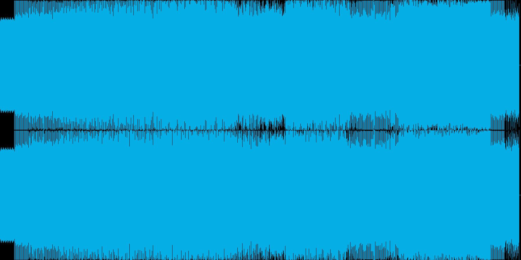 140BPMの疾走感のある長めのテクノの再生済みの波形