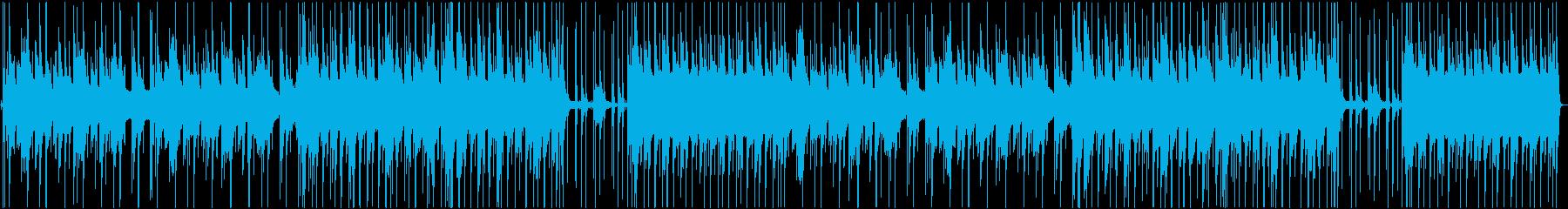 ピアノ・ドラム・ベースのバラードの再生済みの波形