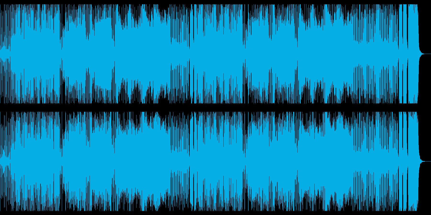 ハロウィンのにぎやかな曲の再生済みの波形