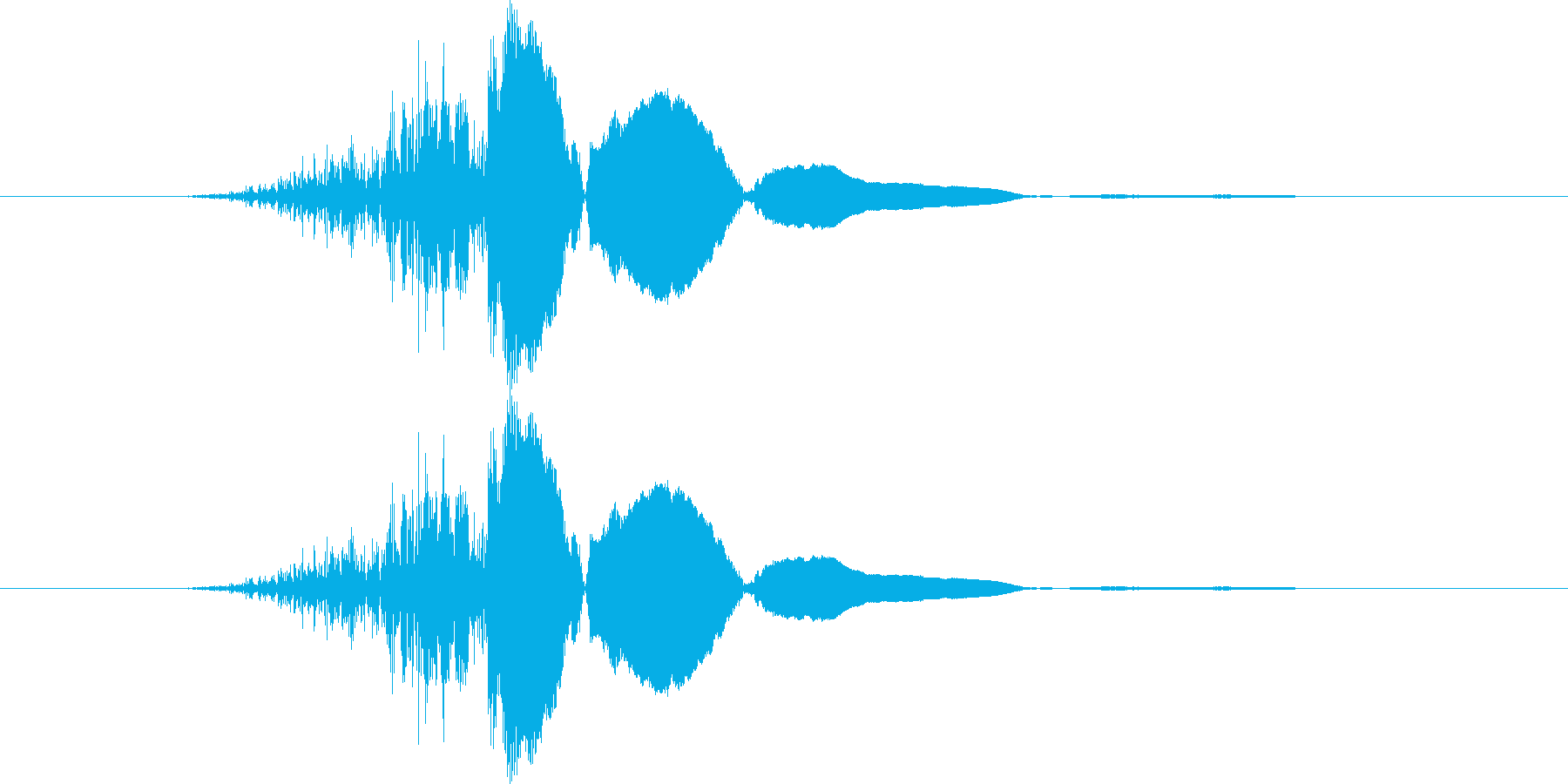 ヒュン!の再生済みの波形