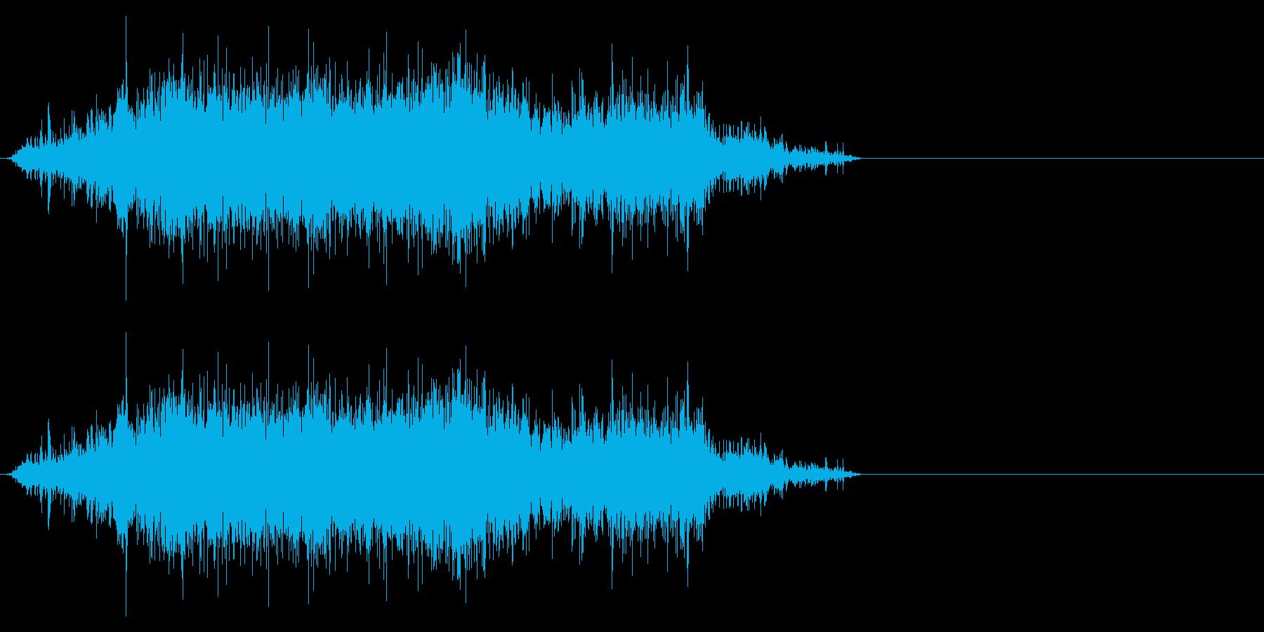 袋・コンビニ、レジ袋2の再生済みの波形