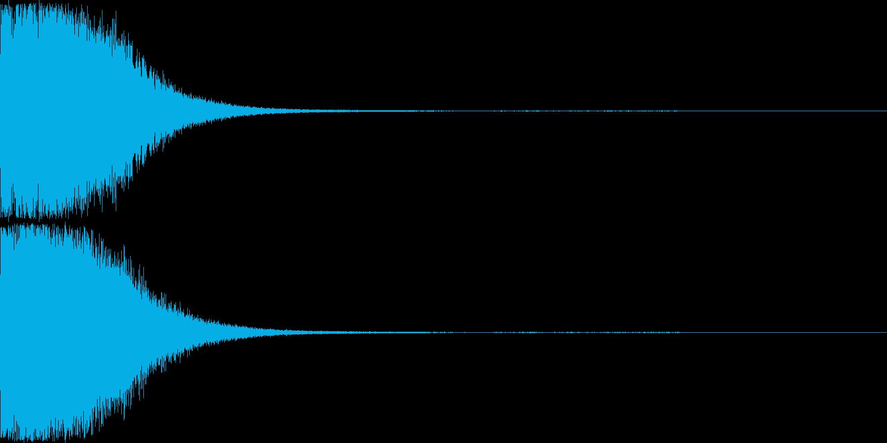 刀 剣 ソード カキーン キュイーン16の再生済みの波形