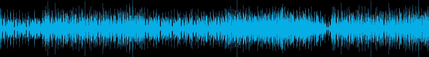 アップテンポジャズ・探偵の尾行/ループ可の再生済みの波形