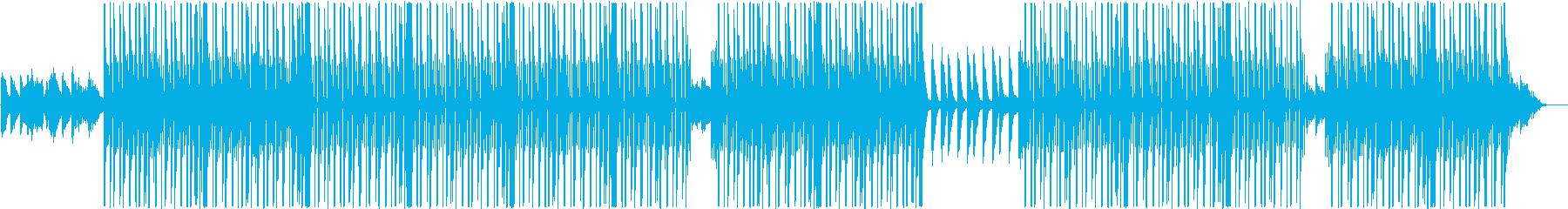ローファイ、トラップ、チルアウトR&B♪の再生済みの波形
