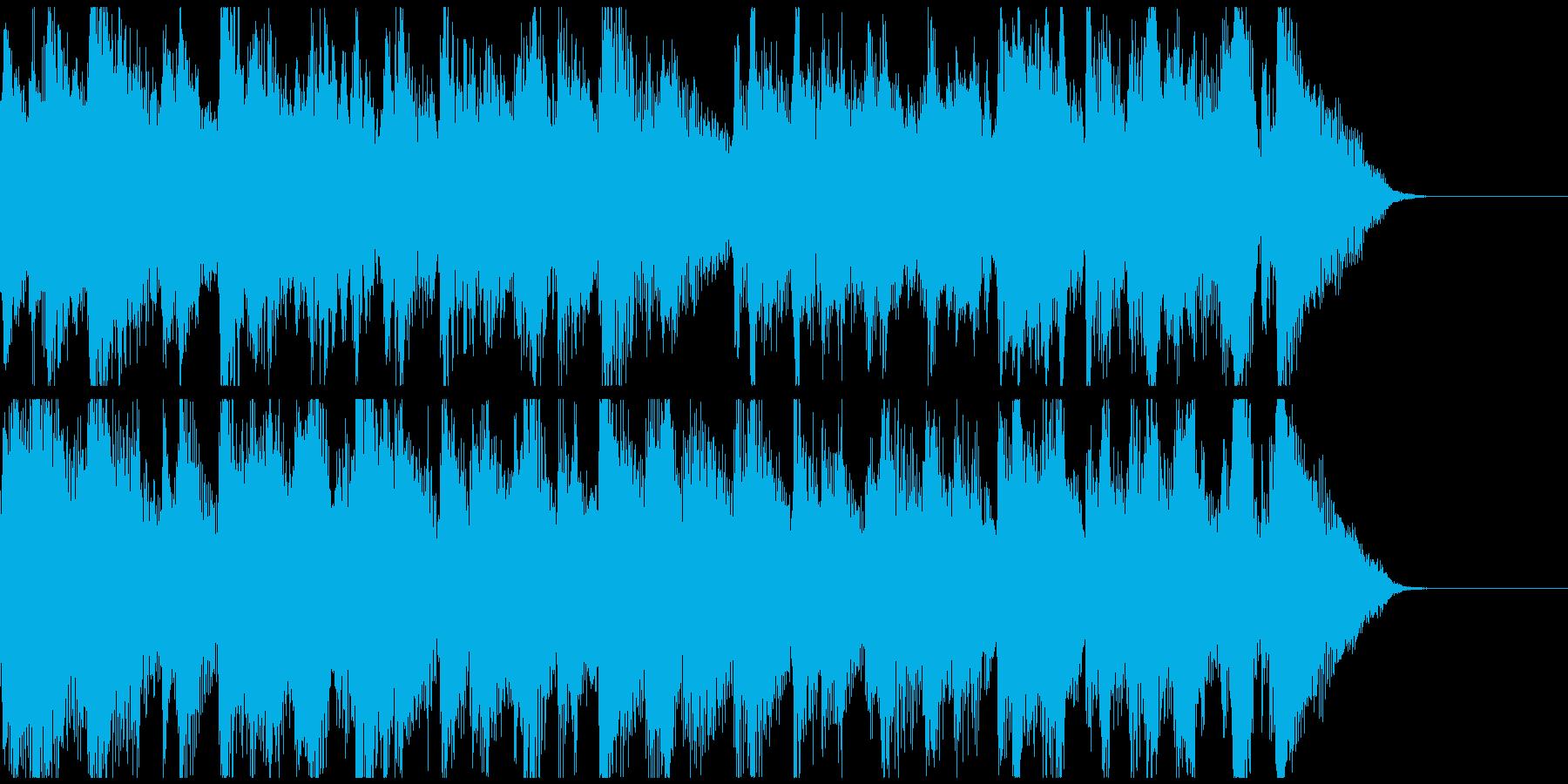 ジャズ調のおしゃれバーなジングルの再生済みの波形