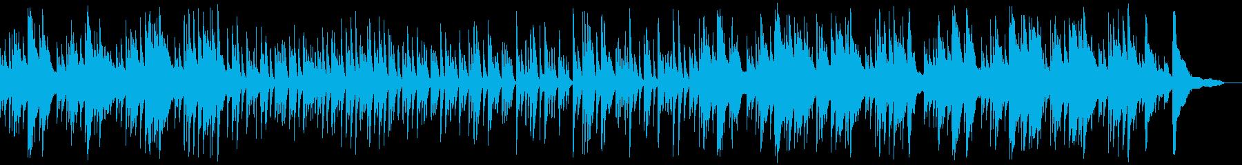 アニメシーンに合いそうな優しいピアノの再生済みの波形