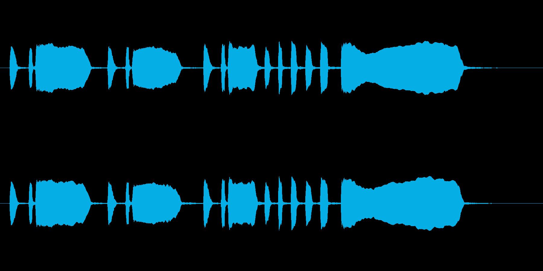 トランペット独奏のファンファーレの再生済みの波形