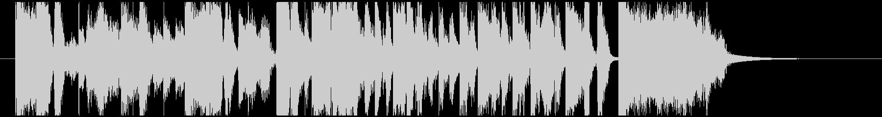 報道テレビ番組オープニング風 約20秒の未再生の波形