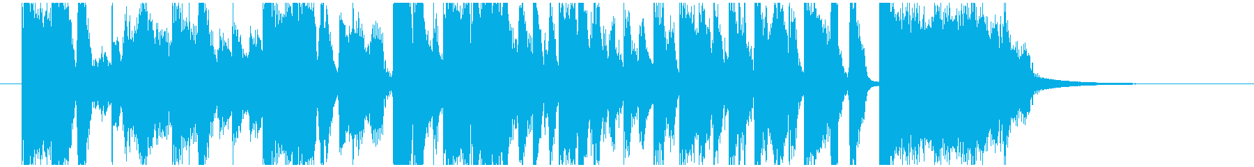 報道テレビ番組オープニング風 約20秒の再生済みの波形