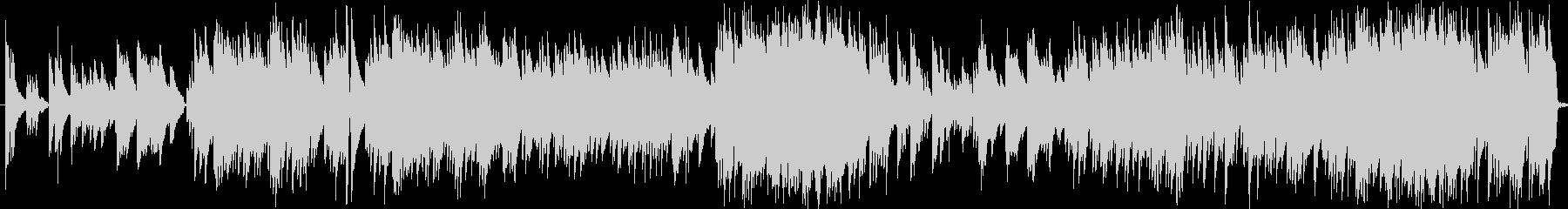 感動的なピアノソロの未再生の波形