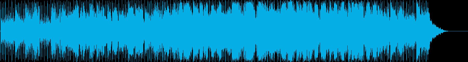 暖かいゆっくりな男性ボーカルのポップな曲の再生済みの波形