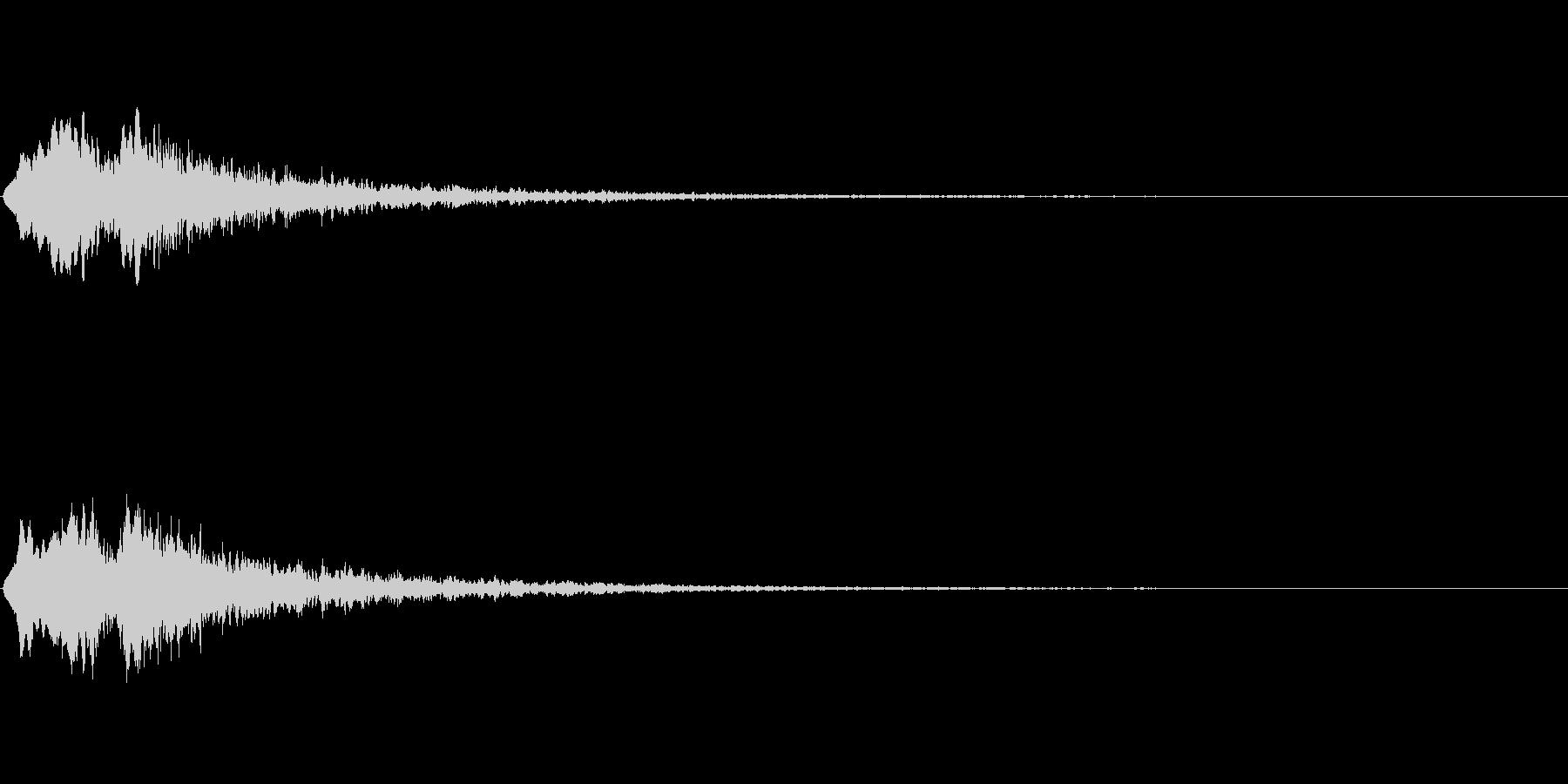 Vox 不気味な鳴き声 ホラーSE 4の未再生の波形