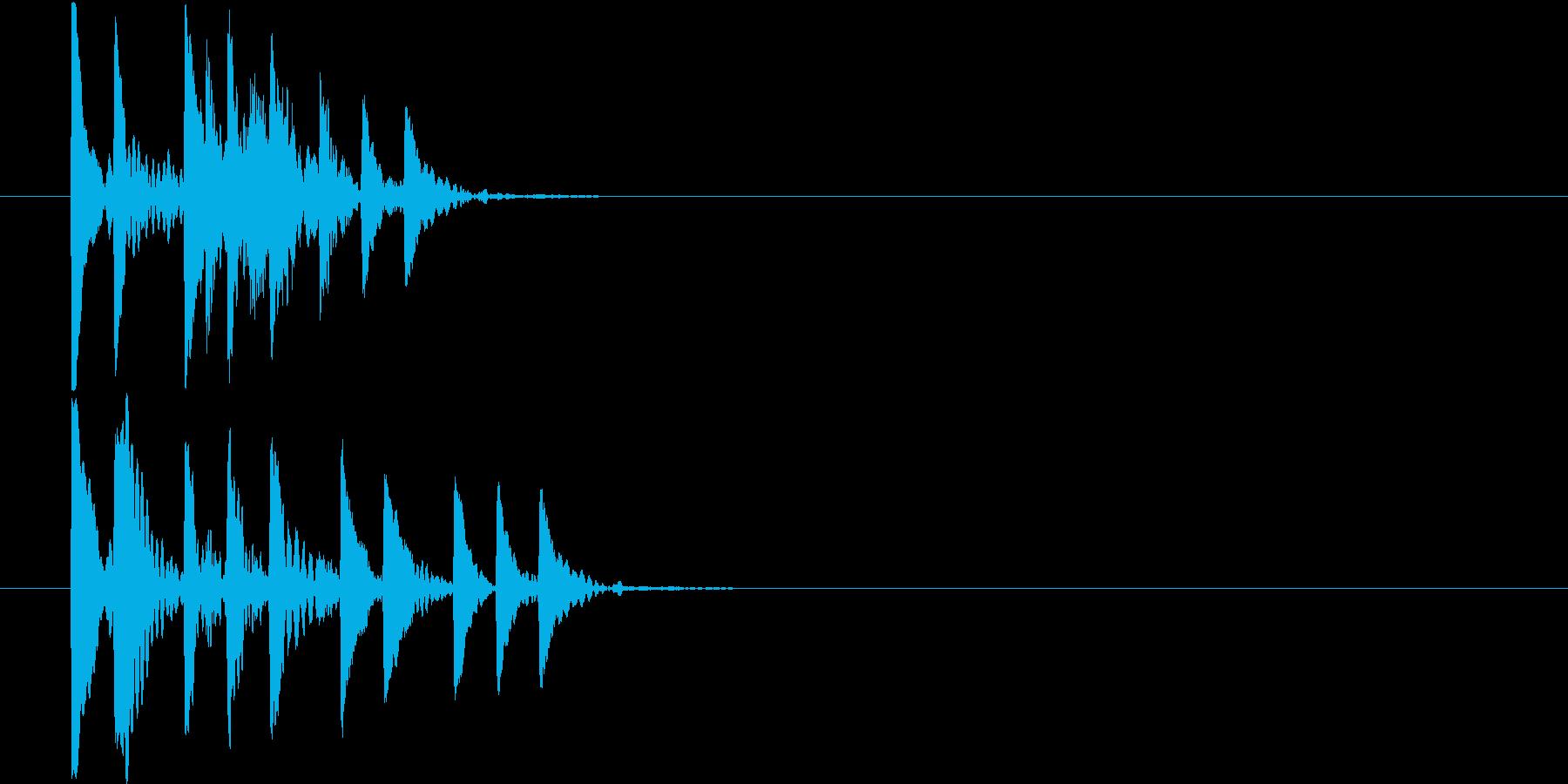 回復アイテム使用時やアイテム取得時の音の再生済みの波形