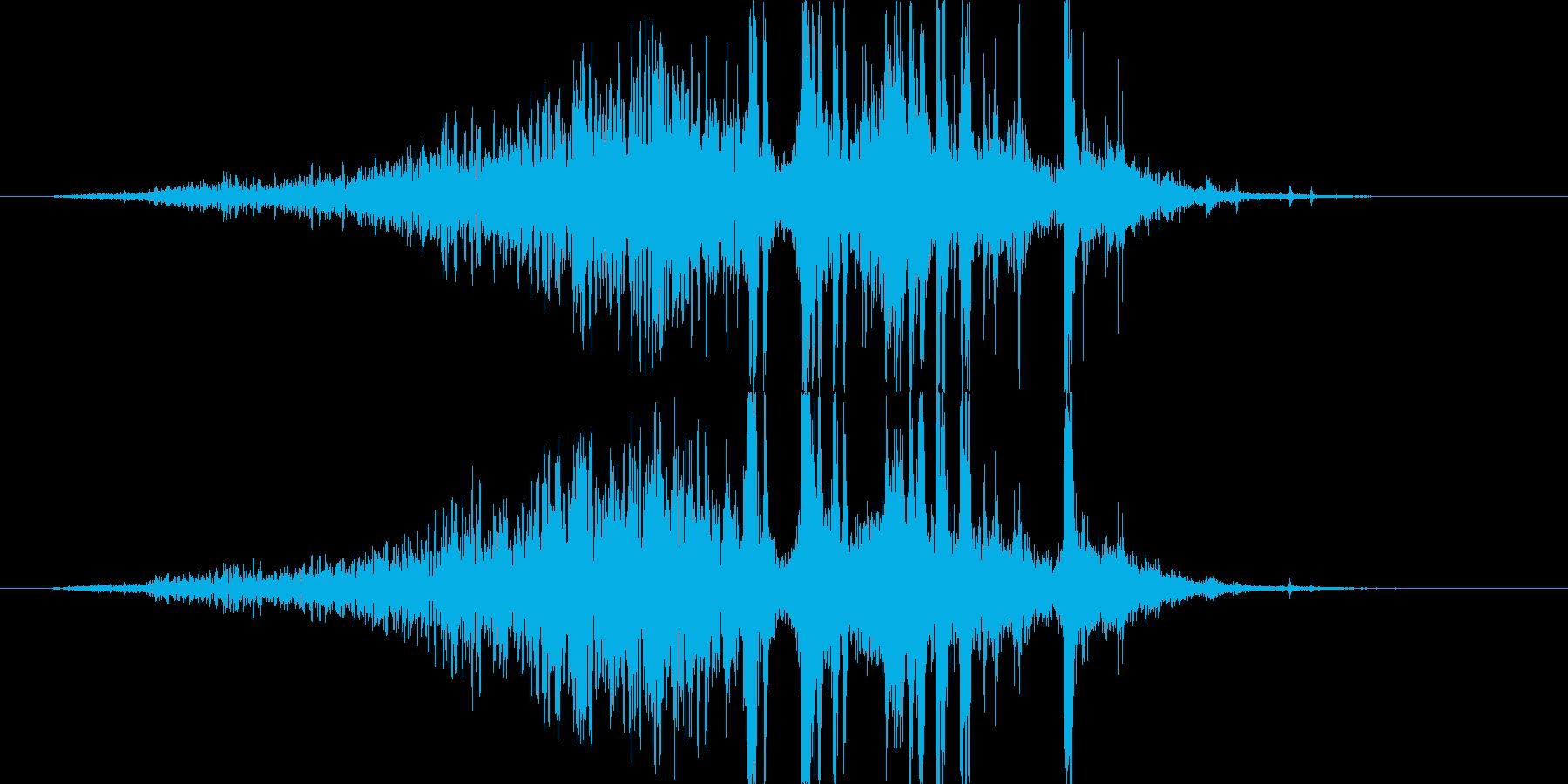 ヒュ〜ドカーン!クライマックの花火の音の再生済みの波形