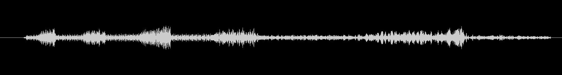 レコード・CDのスクラッチ音(ブレーキ)の未再生の波形