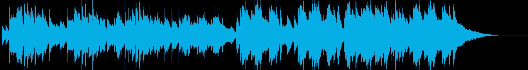切ないアコースティックギターBGMの再生済みの波形