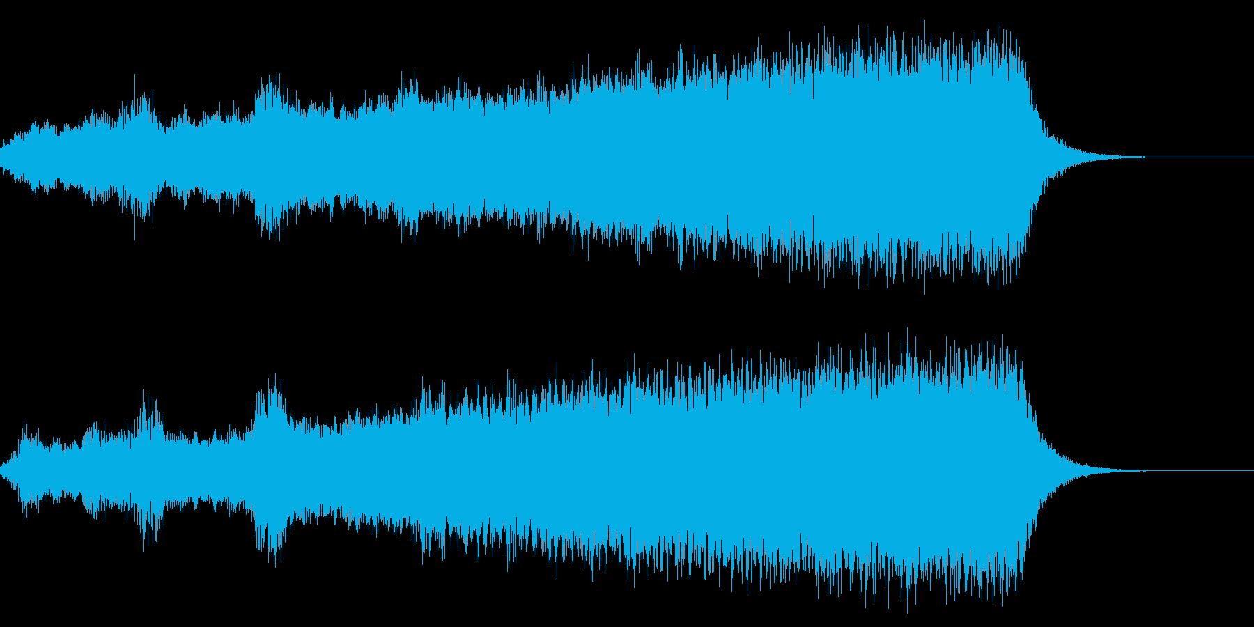 オープニング 華やかなオーケストラ 映画の再生済みの波形