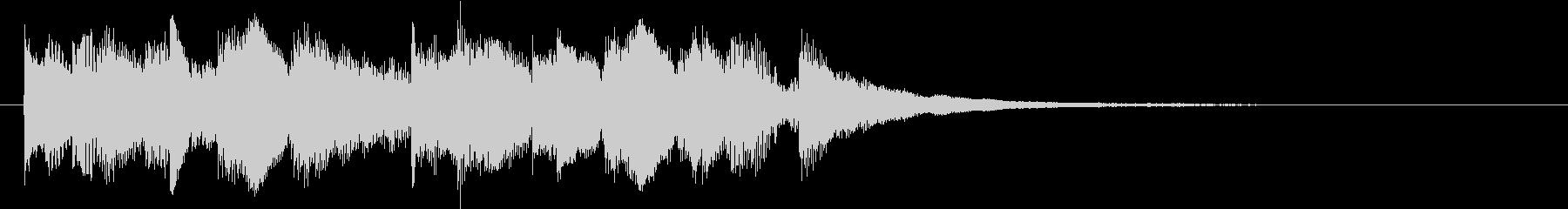 クール&スタイリッシュなオープニングロゴの未再生の波形