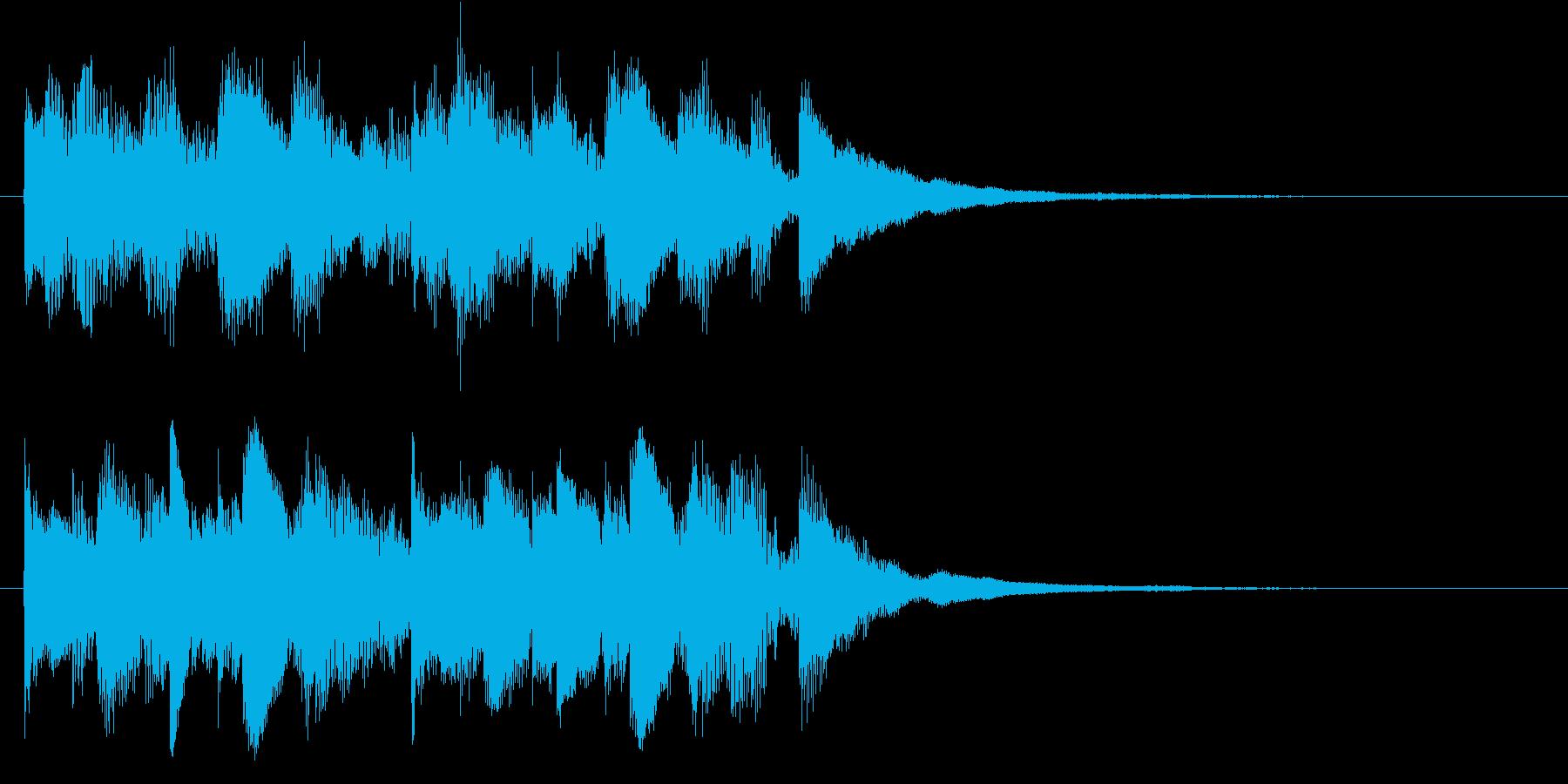 クール&スタイリッシュなオープニングロゴの再生済みの波形