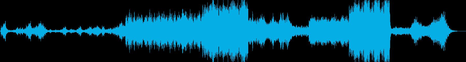 暗いオーケストラとテクノの再生済みの波形