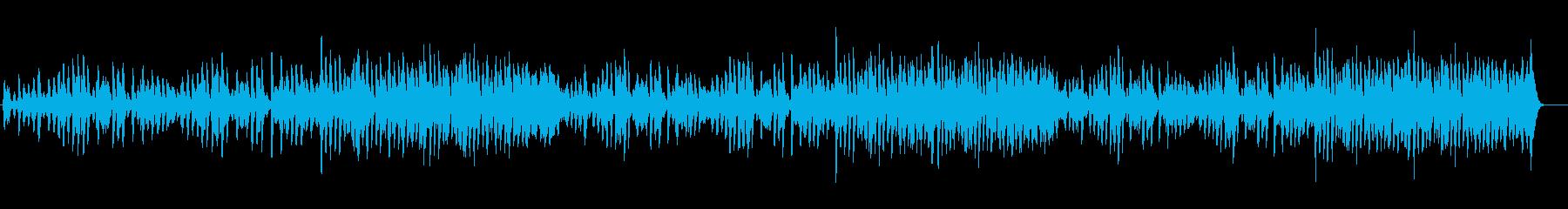 ほのぼのして明るい雰囲気のピアノ曲の再生済みの波形