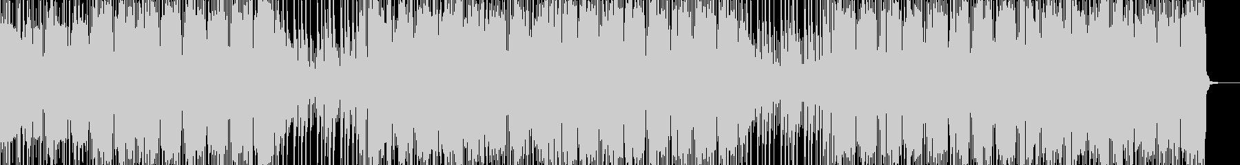 緊張感のあるヒップホップの未再生の波形