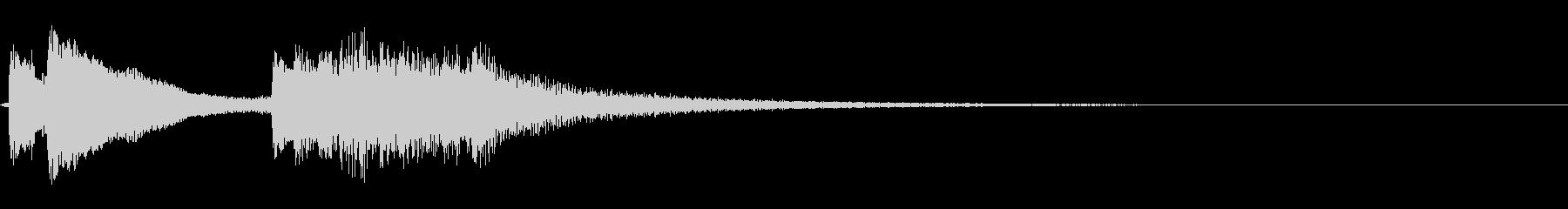 和風琴による場面転換音1の未再生の波形