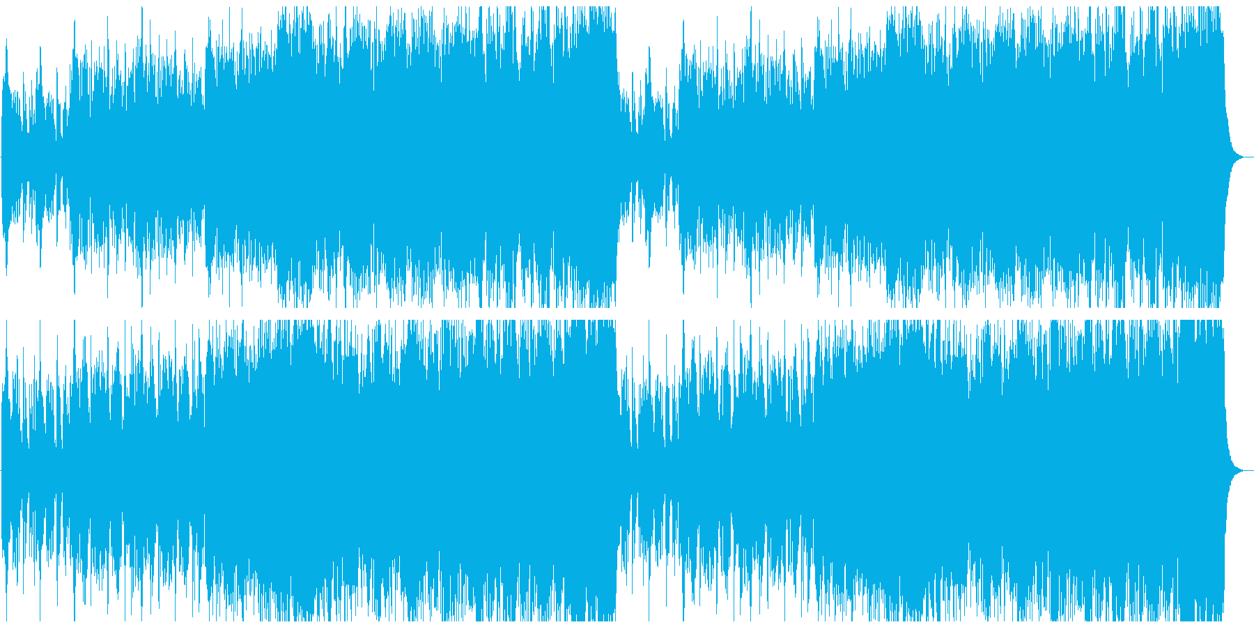 SRPGの進撃準備のような曲の再生済みの波形