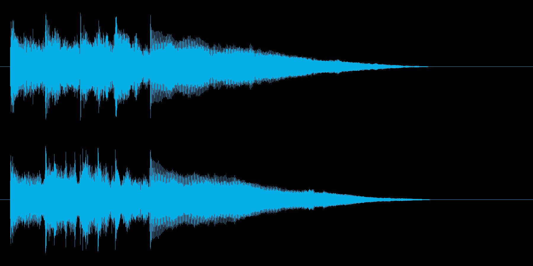 神秘的で少しミステリアスなサウンドの再生済みの波形