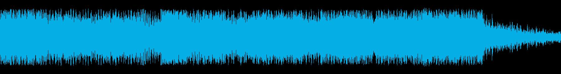 何かに追われるイメージの再生済みの波形