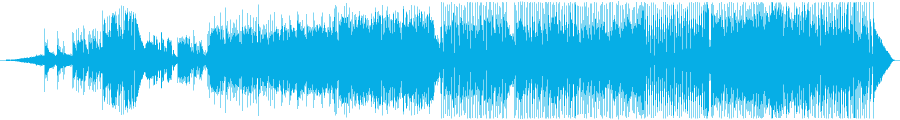 夜明けイメージ、スローでソフトなポップスの再生済みの波形