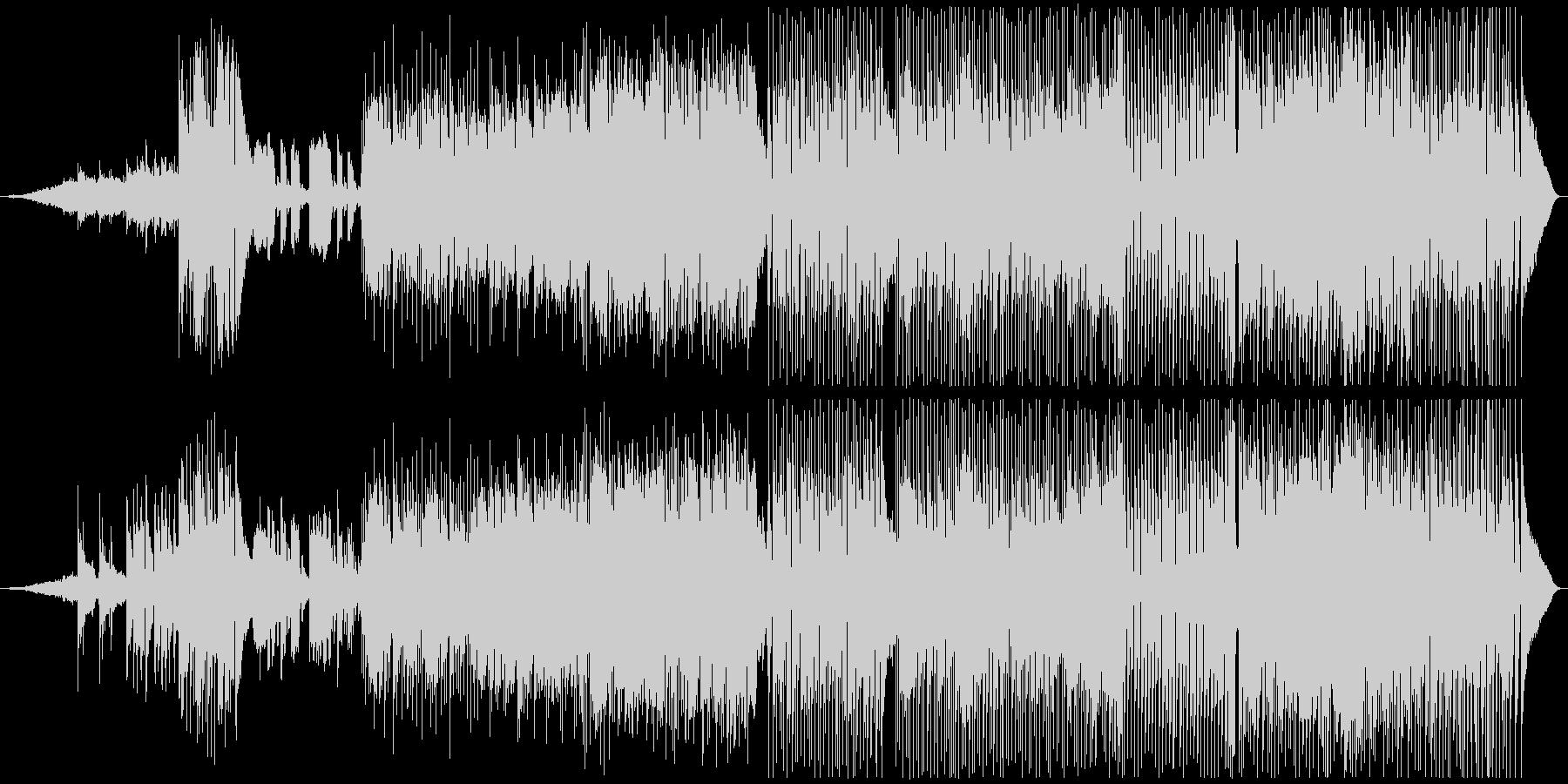 夜明けイメージ、スローでソフトなポップスの未再生の波形
