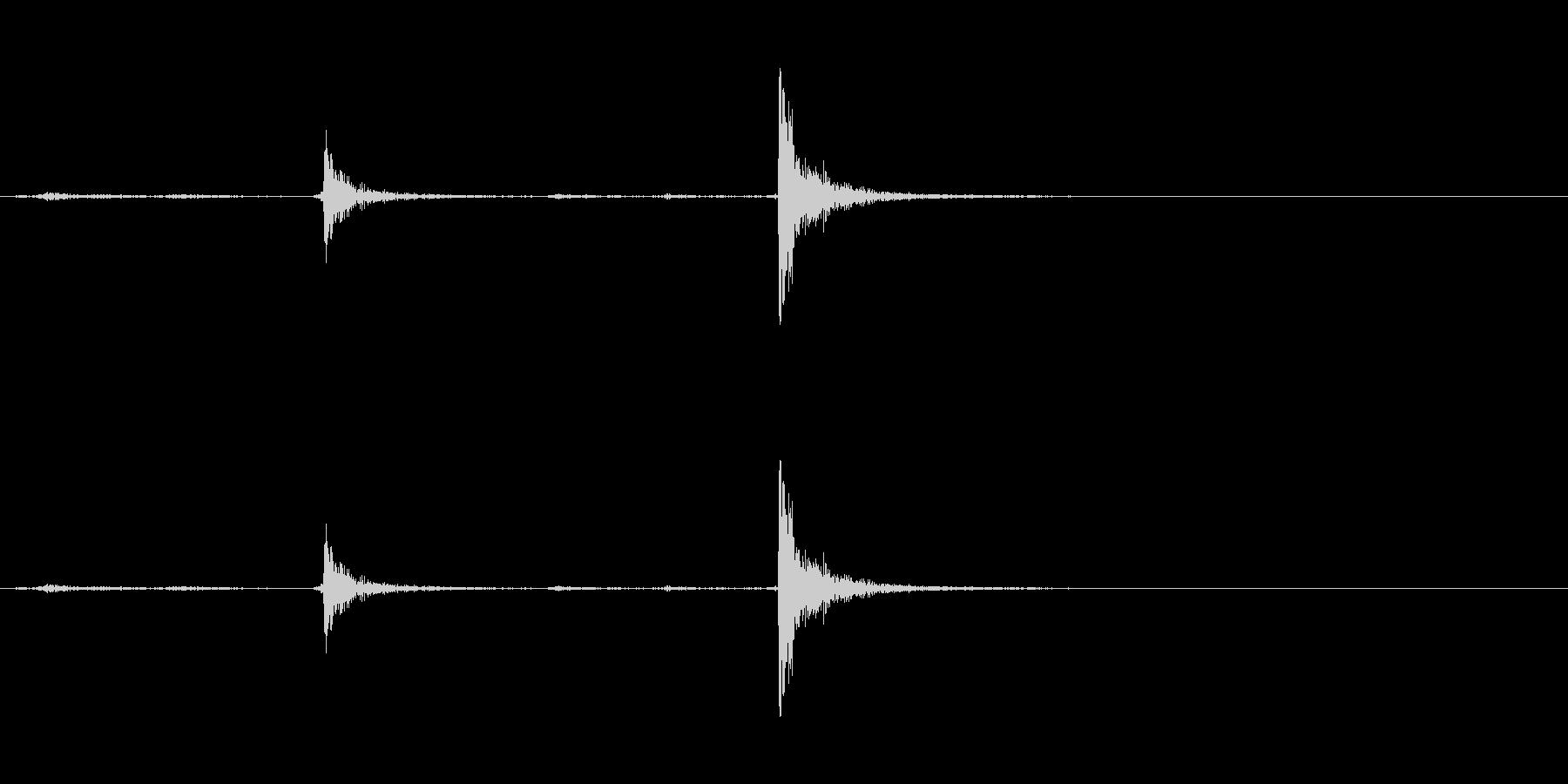 ロッカースイッチの未再生の波形