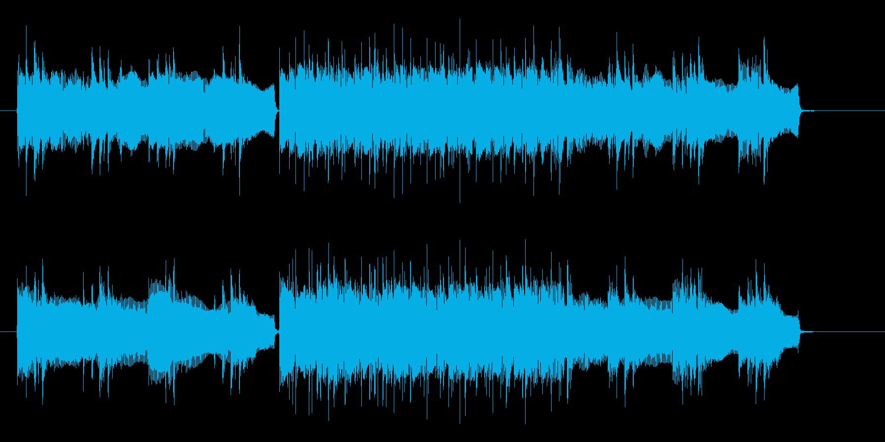 ギターとベースが奏でる重低音入場曲の再生済みの波形
