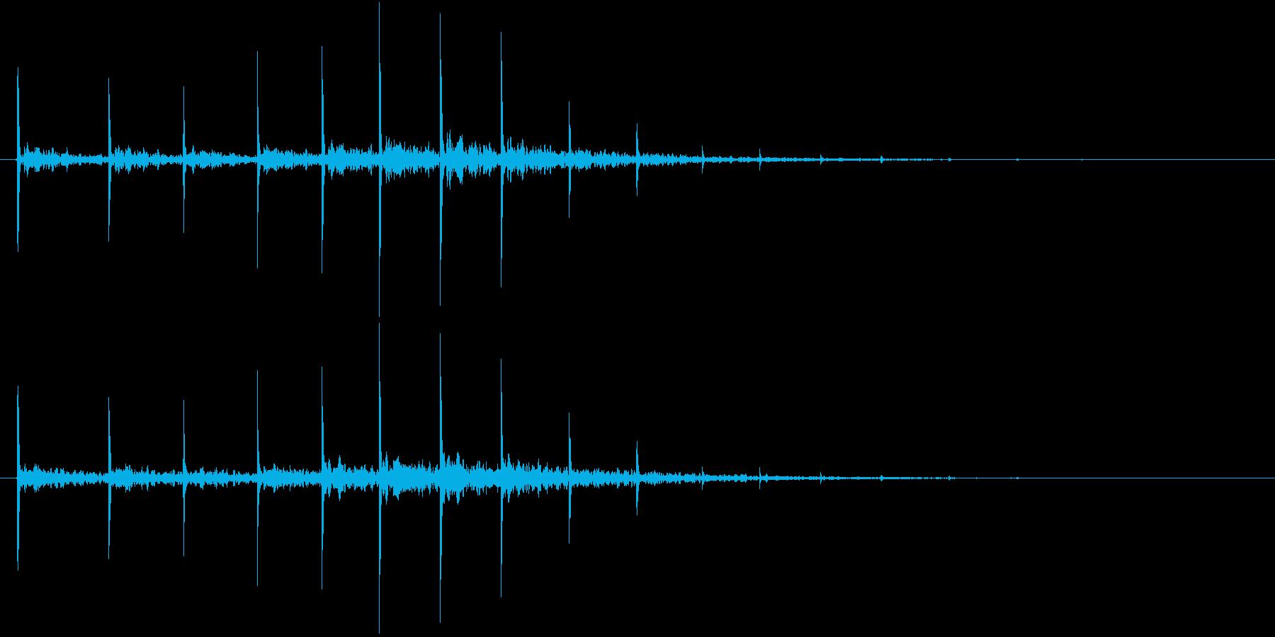 「トントン・・・」石のししおどしリバーブの再生済みの波形