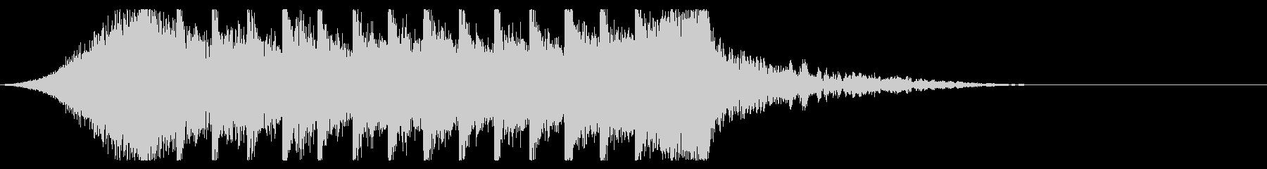 切ないきらきらピアノジングル⑤ 映画風の未再生の波形