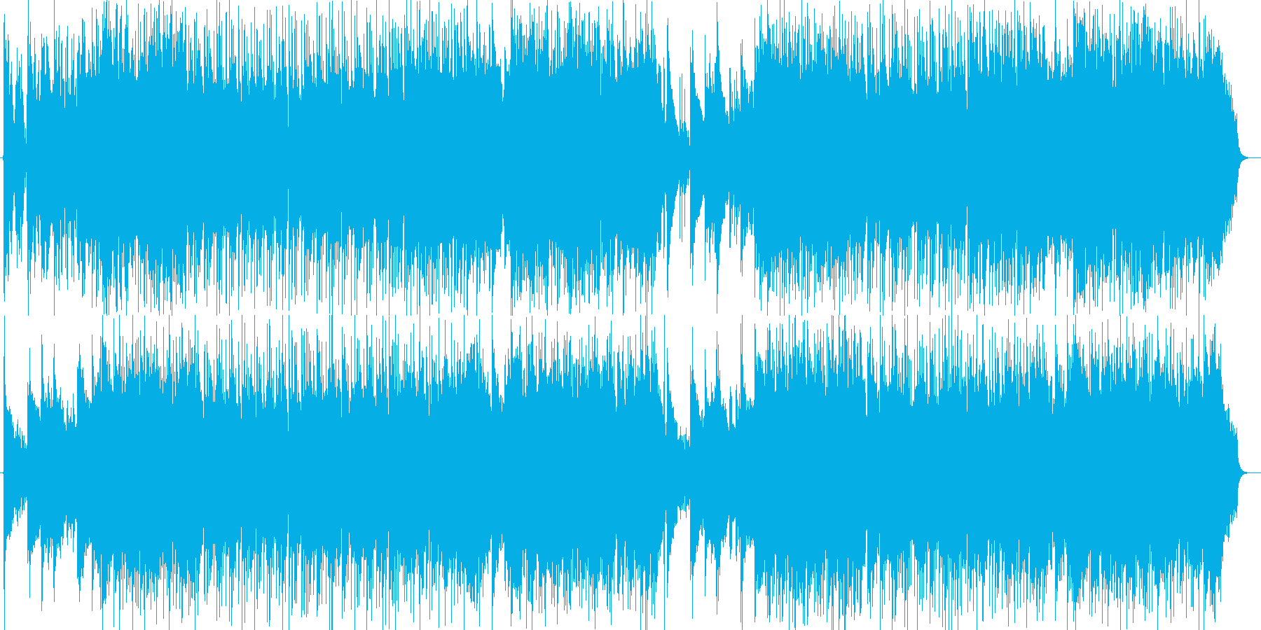 暖かく優しいピアノ・シンセなどのサウンドの再生済みの波形