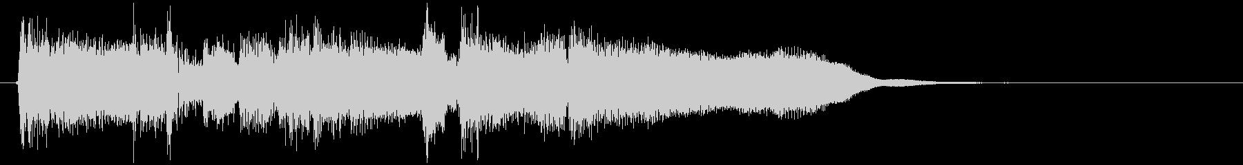 フルート生演奏の素敵なボサノバジングルの未再生の波形