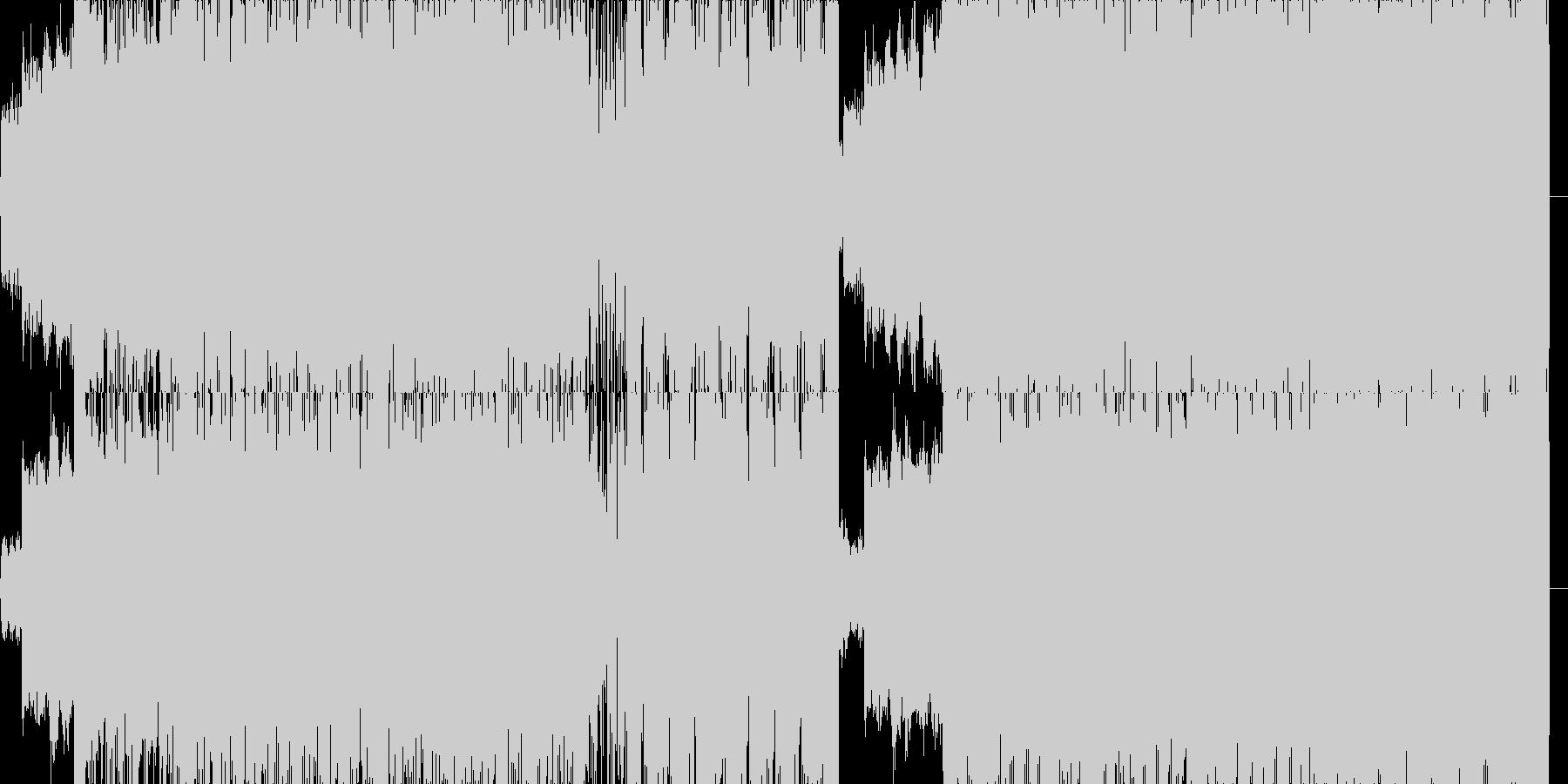 獣の遠吠のような音をノイズで押してくの未再生の波形