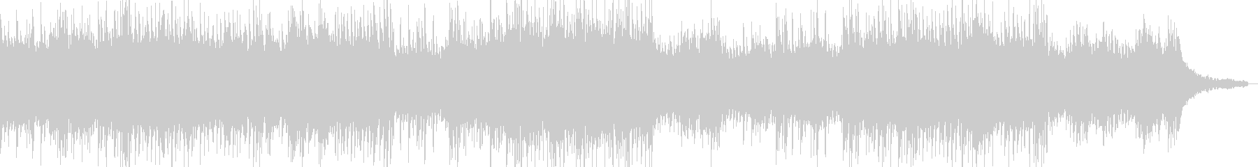 ピアノのリフで始まるハウス系サウンドの未再生の波形