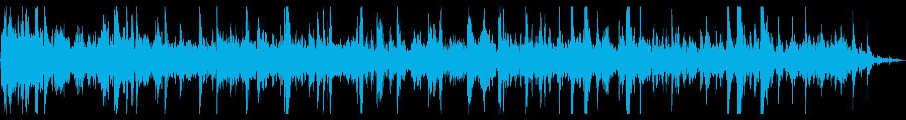 水中で泡がぶくぶく弾ける音2の再生済みの波形