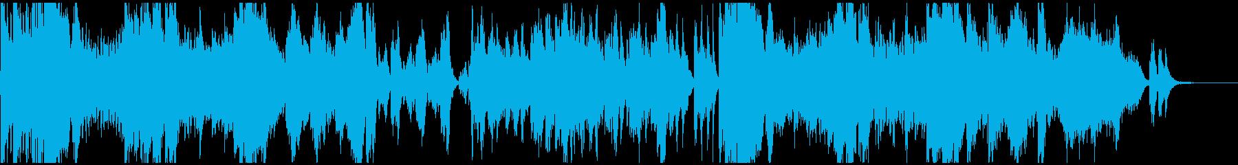 ドタバタと大騒ぎするオーケストラの再生済みの波形