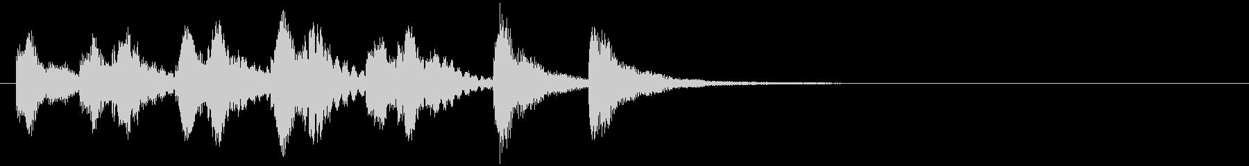 のほほんジングル009_おとぼけ+3の未再生の波形